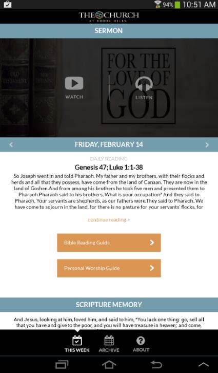 The Church at Brook Hills · Brook Hills App